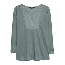 Buy Violeta by Mango Placket Linen Blend Blouse Online at johnlewis.com