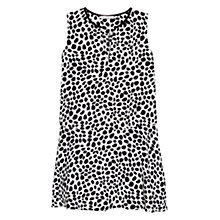 Buy Mango Printed Ruffle Dress, Natural White Online at johnlewis.com