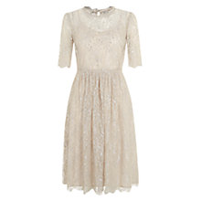 Buy Hobbs Sara Lace Dress, Oyster/Silver Online at johnlewis.com