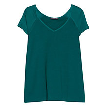 Buy Violeta by Mango Linen-Blend T-Shirt Online at johnlewis.com