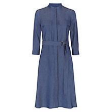 Buy Hobbs Erin Dress, Denim Blue Online at johnlewis.com