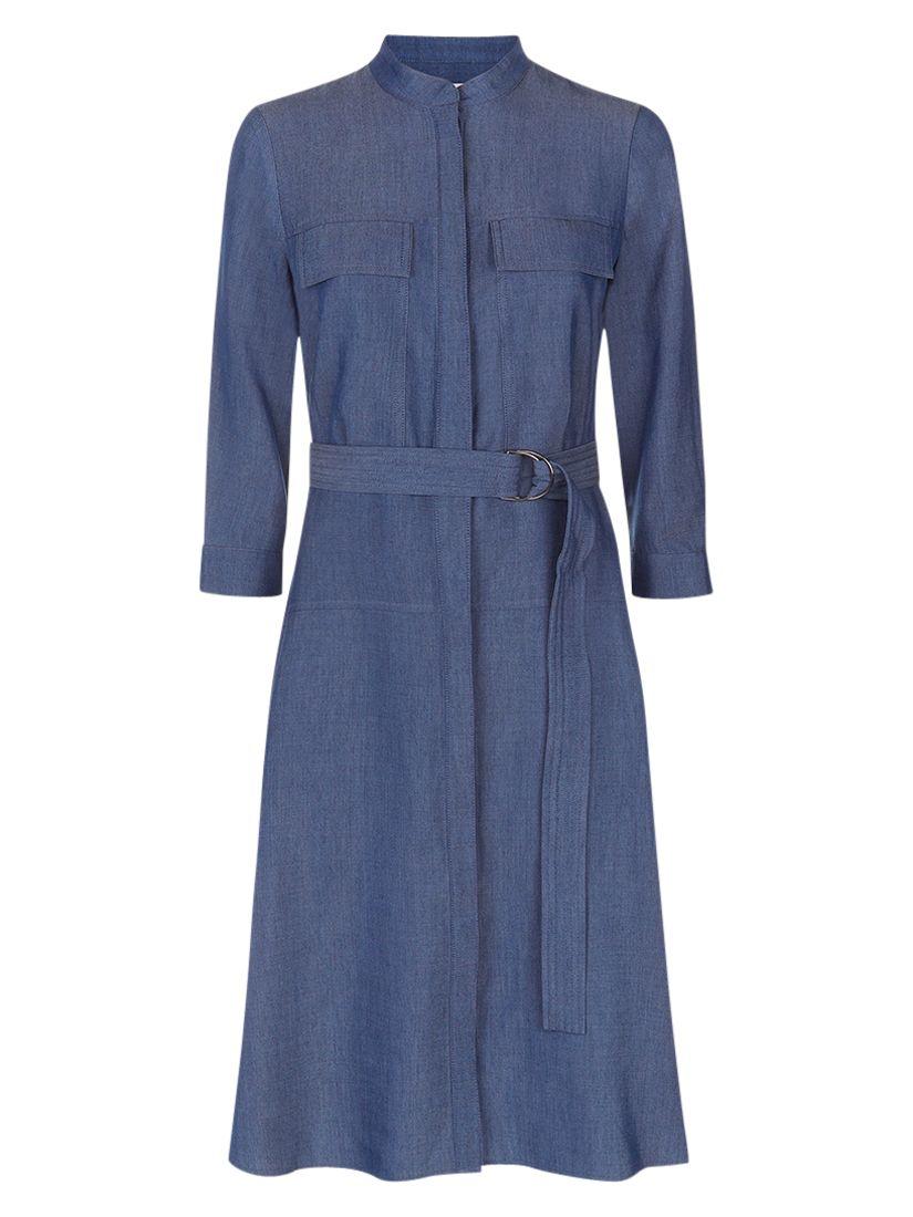 hobbs erin dress denim blue, hobbs, erin, dress, denim, blue, 8|16|14|12|10|18, fashion magazine, women, brands a-k, womens dresses, new in clothing, 1939542