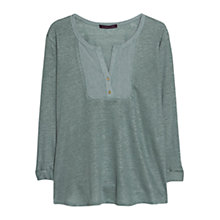 Buy Violeta by Mango Placket Blouse, Medium Green Online at johnlewis.com