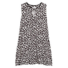 Buy Mango Leopard Print Dress, Natural White Online at johnlewis.com