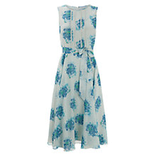Buy Hobbs Silk Huxley Dress, Soft Mint Multi Online at johnlewis.com