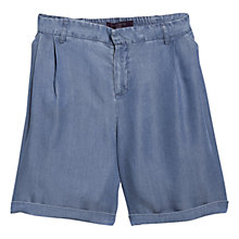 Buy Violeta by Mango Bermuda Shorts, Medium Open Blue Online at johnlewis.com