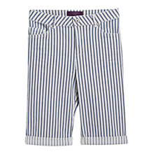 Buy Violeta by Mango Super Slim Striped Bermuda Shorts, White Online at johnlewis.com