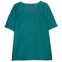 Buy Violeta by Mango Guipure T-Shirt, Bright Green Online at johnlewis.com