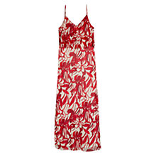 Buy Mango Floral Long Dress, Natural Online at johnlewis.com