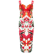 Buy Ted Baker Jameela Tropical Toucan Midi Dress, White Online at johnlewis.com