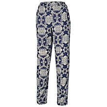 Buy Fat Face Dotty Floral Rayon Trousers, Navy Online at johnlewis.com