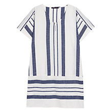 Buy Violeta by Mango Striped Cotton Blouse, Cloud White/Blue Online at johnlewis.com