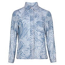 Buy Ted Baker Branca Palm Print Denim Shirt, Baby Blue Online at johnlewis.com