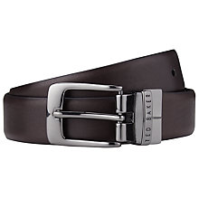 Buy Ted Baker Reversible Cross Grain Leather Belt Online at johnlewis.com