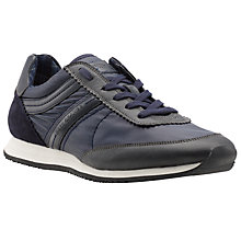 Buy BOSS Adreki Fabric Blend Trainers, Navy Online at johnlewis.com