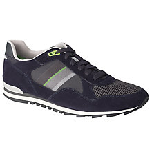 Buy BOSS Green Runcool Suede Trim Trainers, Navy Online at johnlewis.com