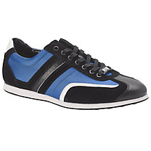 Buy BOSS Green Stiven Suede Trim Trainers, Blue Online at johnlewis.com