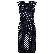 Buy COLLECTION by John Lewis Adele Jersey Dress, Navy/White Online at johnlewis.com