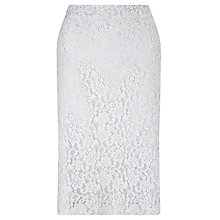 Buy John Lewis Cila Lace Pencil Skirt, Grey Online at johnlewis.com
