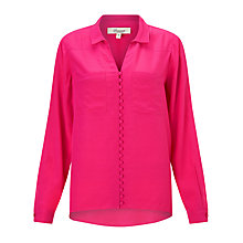 Buy Somerset by Alice Temperley High Low Blouse, Pink Online at johnlewis.com