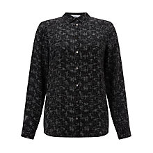 Buy John Lewis Jeanne Pocket Blouse, Black Online at johnlewis.com