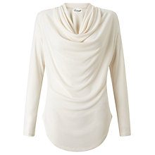 Buy Somerset by Alice Temperley Cowl Neck Jersey Top, Cream Online at johnlewis.com