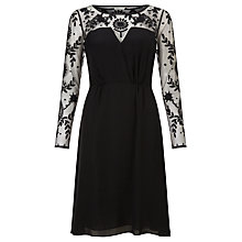 Buy Somerset by Alice Temperley Embroidered Silk Midi Dress, Black Online at johnlewis.com