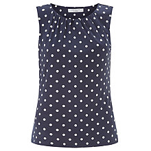 Buy COLLECTION by John Lewis Abigayle Jersey Top, Navy/White Online at johnlewis.com
