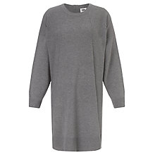 Buy Kin by John Lewis Reverse Seam Cocoon Dress, Grey Online at johnlewis.com