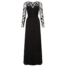 Buy Somerset by Alice Temperley Embroidered Silk Maxi Dress, Black Online at johnlewis.com