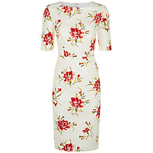 Buy Jaeger Carnation Dress, White/Pink Online at johnlewis.com