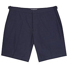 Buy Reiss Brighton Tonal Check Shorts, Navy Online at johnlewis.com