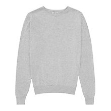 Buy Reiss Abney Cotton Silk Jumper, Grey Online at johnlewis.com