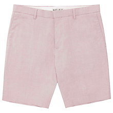 Buy Reiss Oliver Micro Dot Textured Shorts, Red Online at johnlewis.com