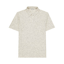 Buy Reiss Bocca Flecked Polo Shirt, Stone Online at johnlewis.com