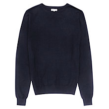 Buy Reiss Abney Cotton Silk Jumper, Navy Online at johnlewis.com
