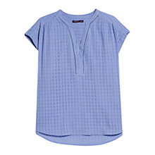 Buy Violeta by Mango Check Pattern Blouse, Light/Pastel Purple Online at johnlewis.com