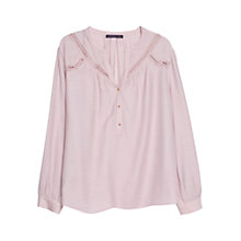 Buy Violeta by Mango Crochet Detail Blouse, Light/Pastel Purple Online at johnlewis.com