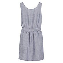 Buy Mango Bow Cut-Out Dress, Sky Blue Online at johnlewis.com