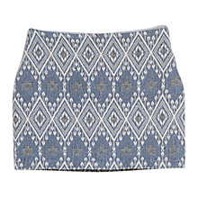 Buy Mango Jacquard Mini Skirt, Blue/White Online at johnlewis.com