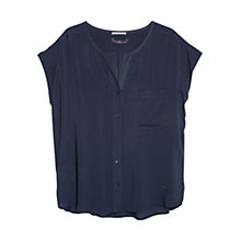 Buy Violeta by Mango Flowy Pocket Blouse Online at johnlewis.com