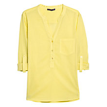 Buy Violeta by Mango Striped Cotton Shirt, Canary Online at johnlewis.com