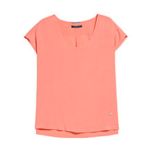 Buy Violeta by Mango Cap Sleeve Blouse, Light/Pastel Orange Online at johnlewis.com
