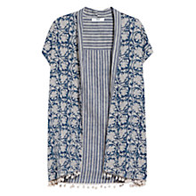 Buy Mango Print Reversible Kimono, Medium Blue Online at johnlewis.com