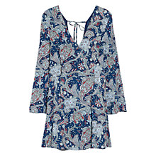 Buy Mango Paisley Print Dress, Navy Online at johnlewis.com