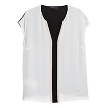 Buy Violeta by Mango Contrast Trim Blouse Online at johnlewis.com