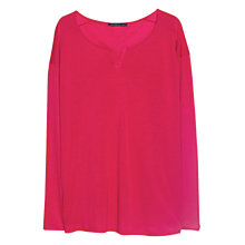 Buy Violeta by Mango Soft Fabric T-Shirt, Bright Pink Online at johnlewis.com