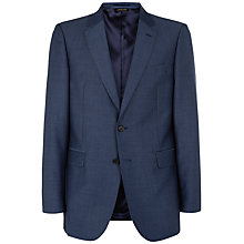Buy Jaeger Wool Mohair Modern Suit Jacket, Mid Blue Online at johnlewis.com