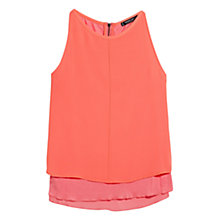 Buy Mango Double Layer Top, Natural White Online at johnlewis.com