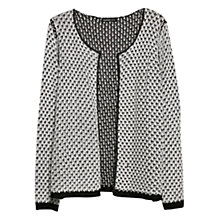 Buy Violeta by Mango Metallic Detail Cardigan, Black/White Online at johnlewis.com